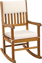 Wooden rocking chair traditional rocking armchair