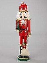 Wooden Santa Nutcracker Christmas Ornament