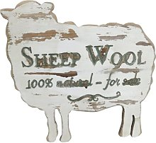 Wooden Sheep Print Wall Décor Brambly Cottage