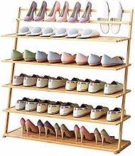 Wooden Shoe Rack 5/6 Tier Dust-Proof Household