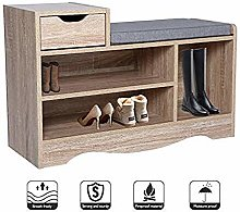 Wooden Shoes Bench Shoe Storage Rack With