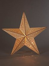 Wooden Star Light Hanging Christmas Decoration