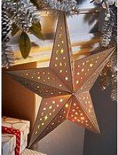 Wooden Star Light Hanging Christmas Decoration