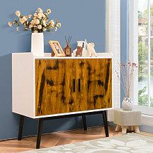 Wooden Storage Cabinet Freestanding Cupboard
