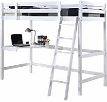 Wooden Study Bunk Bed (With Mattress) – Stylish