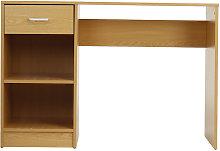 Wooden Table Computer Desk 109x40x74cm Walnut