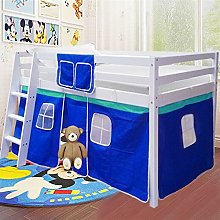 Wooden Tent Cabin Bed Mid Sleeper with Stair Kids