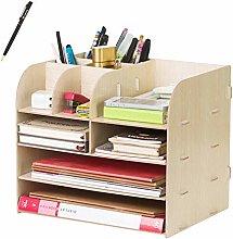 Wooden Tidy Desk Organiser Desktop Storage Box