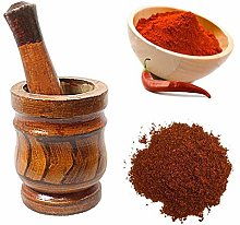 Wooden Traditional Indian Spice Herbs Crusher Bowl