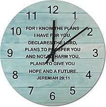 Wooden Wall Clock 10 Inch, For I Know The Plans I