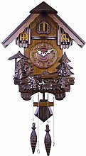 Wooden Wall Clock Cuckoo Shaped Clock Antique