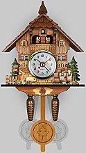 Wooden Wall Clock Cuckoo, Wooden Retro Hanging