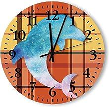 Wooden Wall Clock Frameless Clocks with Silent