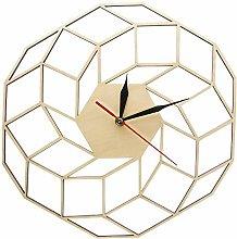 Wooden Wall Clock Home Kitchen Decor Wall Art