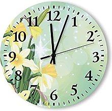 Wooden Wall Clock Silent Non-Ticking ,Battery