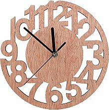 Wooden Wall Clock with Roman Numerals Round