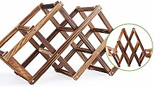 Wooden Wine Rack with Three Shelves for 3, Wine