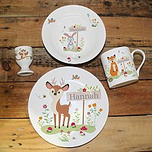 Woodland Breakfast Set, Made up of an egg cup,