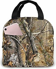 Woodland Camouflage Lunch Bag Reusable Insulated