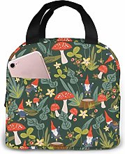Woodland Gnomes Lunch Bags Insulated Travel Picnic