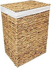 Woodluv Natural Rattan Laundry Storage Basket