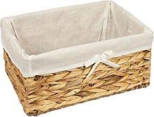 Woodluv Rattan Storage Hamper Shelf Basket with