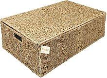 Woodluv Seagrass Under Bed Storage Box Chest