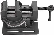 Woodworking Vice Drill, Drill Press Vise Cast Iron Body Corrosion‑Resistant Hardware Accessory 3‑Inch Tiltable with Guiding Bar for Pillar Drill/Hand Clamp
