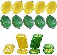 Woohome 30 PCS Artificial Lemons Fake Lemons