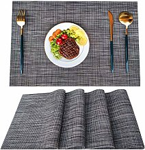 Woollo Placemats Set Of 4 Table Mats,Washable PVC