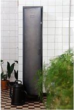 Woood Cas 1 Door Locker Cabinet - Black