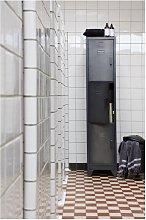 Woood Cas 3 Door Locker Cabinet - Black