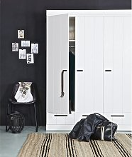 Woood Connect 3 Door 3 Drawer Wardrobe - White