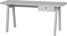 Woood Sammie Drawer Desk - Light Grey