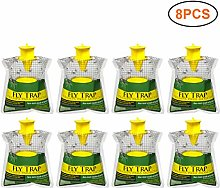 WoRamy 8 pcs Outdoor Disposable Hanging Fly Trap