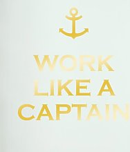 Work Like a Captain Door Room Wall Sticker Happy