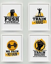 Workout Gym Motivational Quote Poster Canvas Art