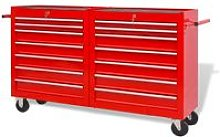 Workshop Tool Trolley with 14 Drawers Size XXL