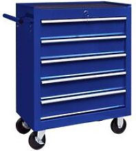 Workshop Tool Trolley with 5 Drawers Blue - Blue -