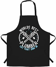 World's Best Plumber Chef's Apron Plumbing