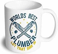 World's Best Plumber Mug Plumbing Job Boss