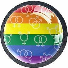 World Aids Day Rainbow Flag Cabinet Dresser Drawer