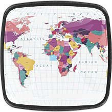 World Colored MapWorld Colored Map Knobs for