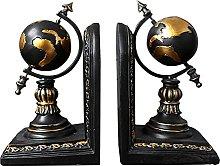 World Globe Bookends, Rustic Globe Bookends,