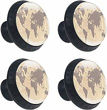 World Map Cabinet Door Knobs Handles Pulls