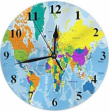 World Map Clock Geography Global Map Country Ocean