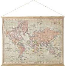 World Map Print Wall Art 150x115