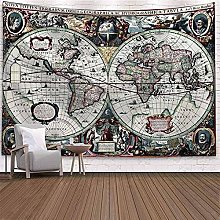 World Map Tapestry Wall Hanging Dormitory Room Art