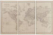 World Map Triptych 159x101