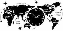 World Map Wall Clock Decorative Hanging Clock